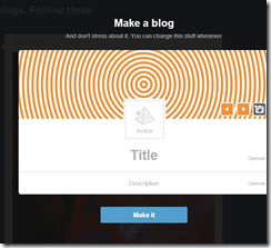 how to make a blog on tumblr